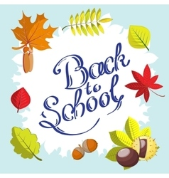 Calligraphic Back to school hand drawn surrounded vector image