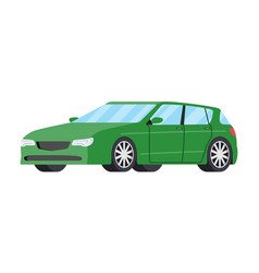 Cars front side view hatchback auto icon detailed vector