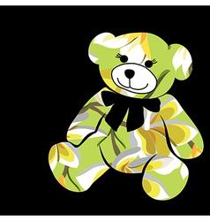 Cartoon bear The silhouette of the elephant vector