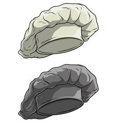 cartoon chef cook hat or cap icon set vector image