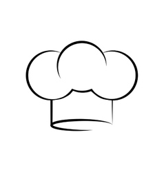 Chef hat symbol vector image