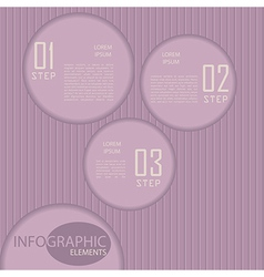 Circle paper infographic with striped backdrop vector image