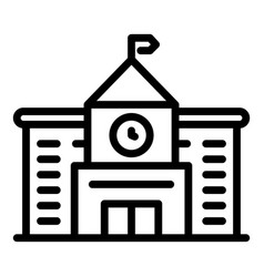 City university building icon outline style vector