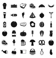 coffee icons set simle style vector image