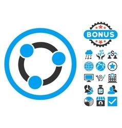 Collaboration Flat Icon with Bonus vector