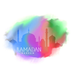 colorful background for ramadan kareem greeting vector image