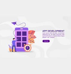 concept app development modern conceptual for vector image