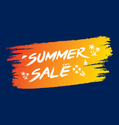 creative summer sale template design vector image