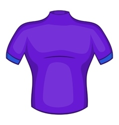 Cycling shirt icon cartoon style vector image