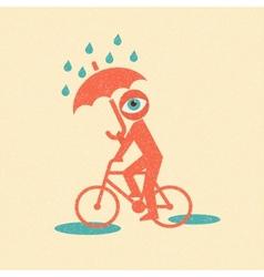 Cyclist Retro poster vector