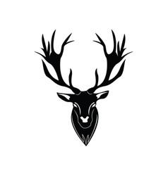 dear head logo vector image