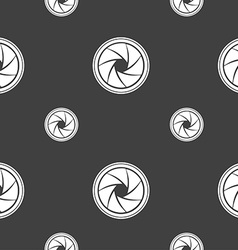 diaphragm icon Aperture sign Seamless pattern on a vector image
