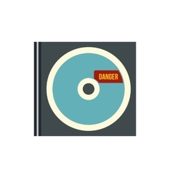 Disk with virus icon flat style vector image