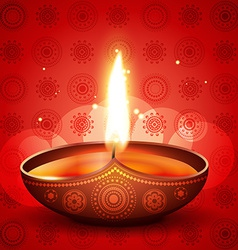 Diwali festival diya vector