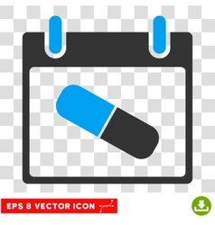 Drugs Pill Calendar Day Eps Icon vector image