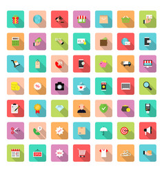 e-commerceonline shoppingbusiness icon set in vector image