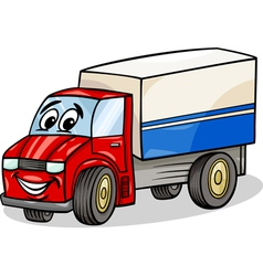 Funny truck car cartoon vector