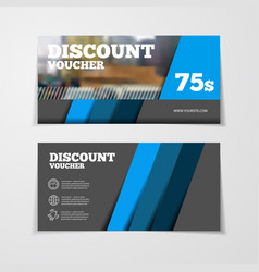Gift or discount voucher template vector