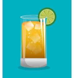Glass tequila drink mexico design vector