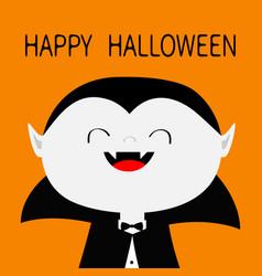 Happy halloween count dracula white head face vector