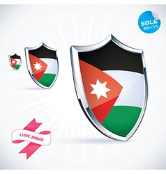 I Love Jordan Flag vector image