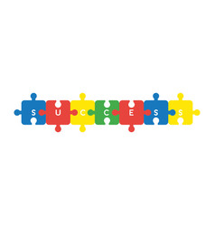 icon concept of seven success jigsaw puzzle vector image