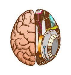 innovation machine robotic brain color vector image