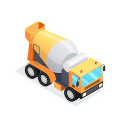 isometric concrete mixer isolated vector image