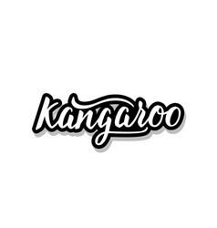 Kangaroocalligraphy template text for your design vector
