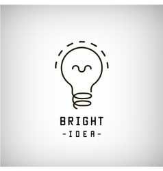 Light bulb abstract logo Idea brainstorm vector