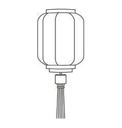 line art black and white paper lantern vector image