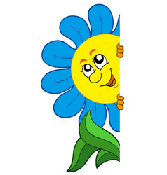 lurking cartoon flower vector image