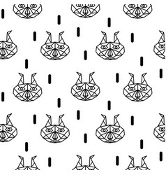 lynx abstract animal seamless pattern vector image