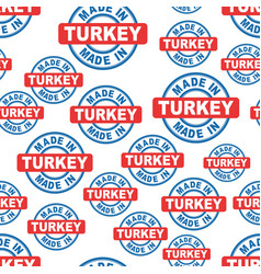 made in turkey seamless pattern background icon vector image