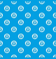 minimal air balloon pattern seamless blue vector image