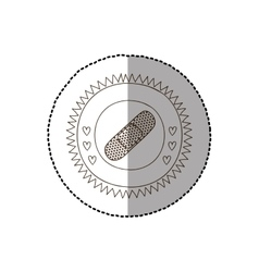 monochrome circular frame with middle shadow vector image