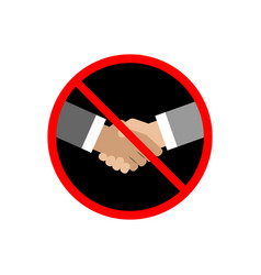 no handshake icon on white background vector image