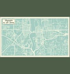 Olympia washington usa city map in retro style vector