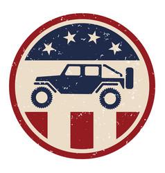 patriotic off road 4wd logo vector image