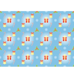 pattern with symbols of Christmas vector image
