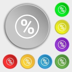 percentage discount icon sign Symbol on eight flat vector image