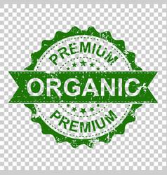 Premium organic scratch grunge rubber stamp on vector