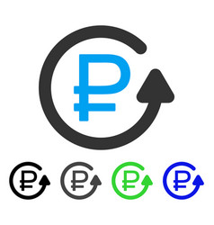 Rouble chargeback flat icon vector