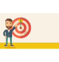 Salesman hit the sales target vector image
