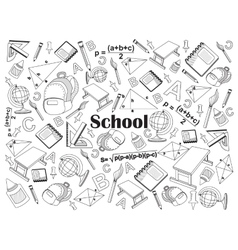School colorless set vector