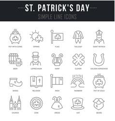 set line icons saint patricks day vector image
