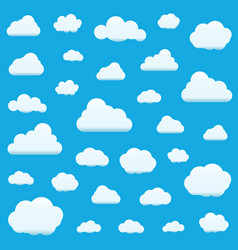 set of clouds isolated on sky background seamless vector image