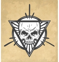 Skull on an abstract vector image