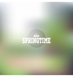 Spring time poster web and mobile vector