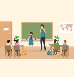 Students at classroom vector